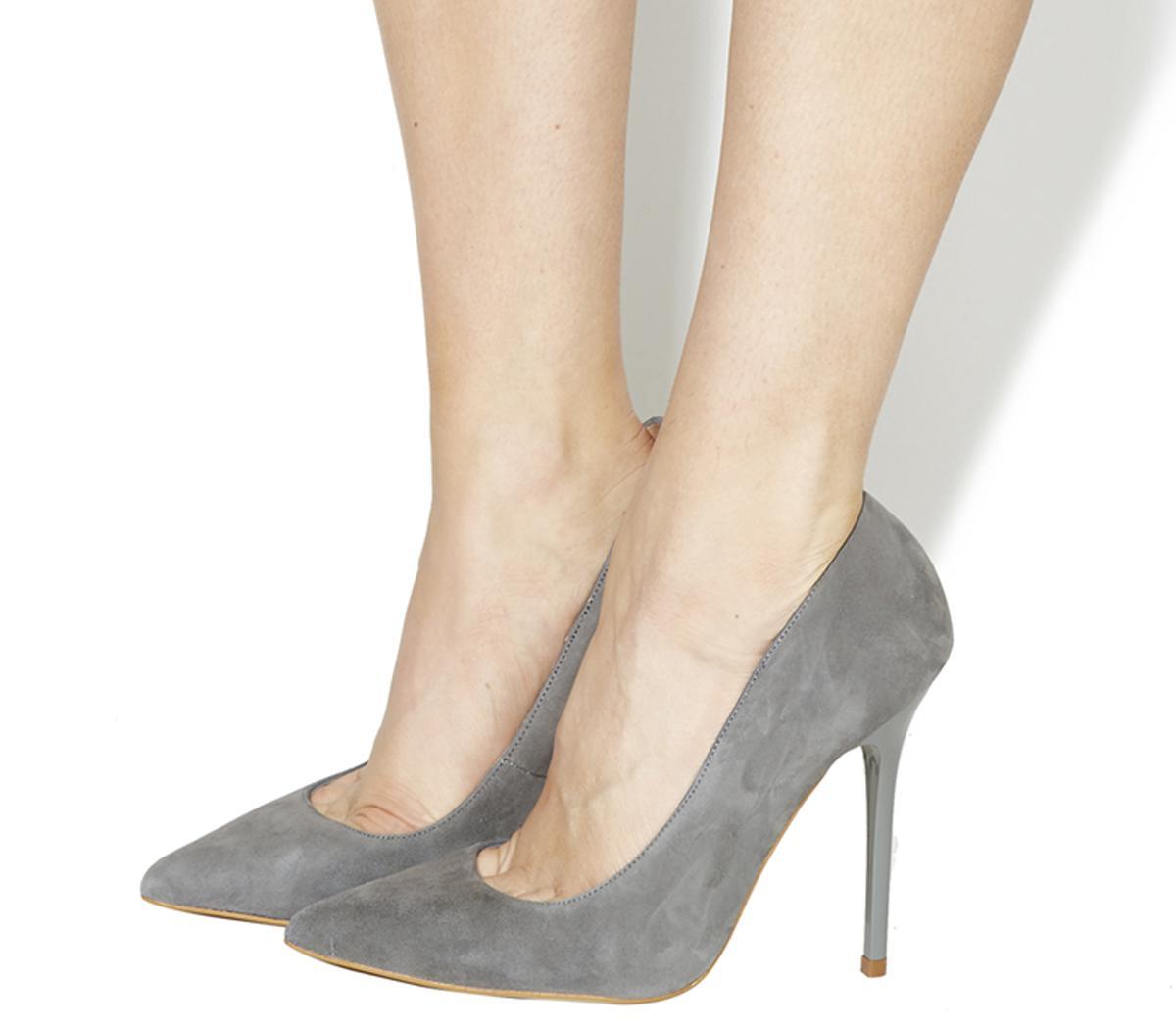 Office On Tops Grey Suede - High Heels