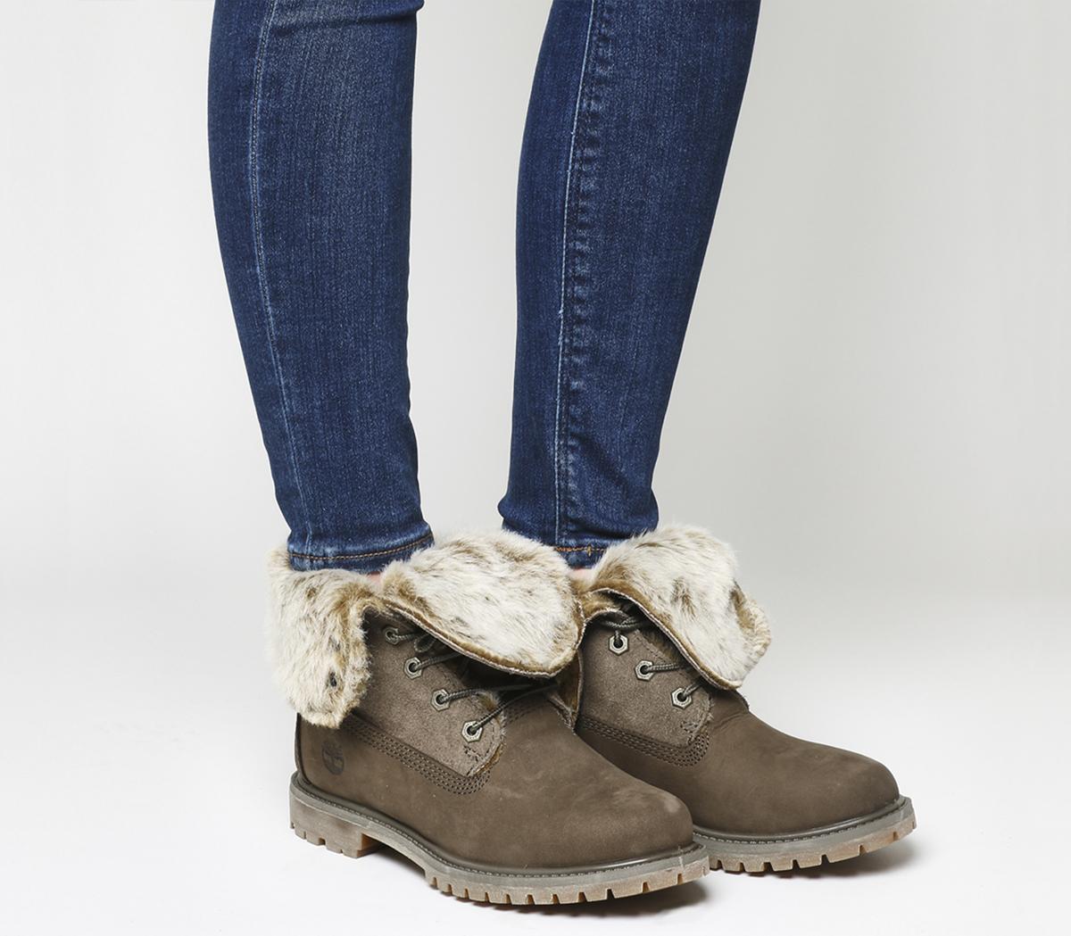 Fur Fold Down Boots