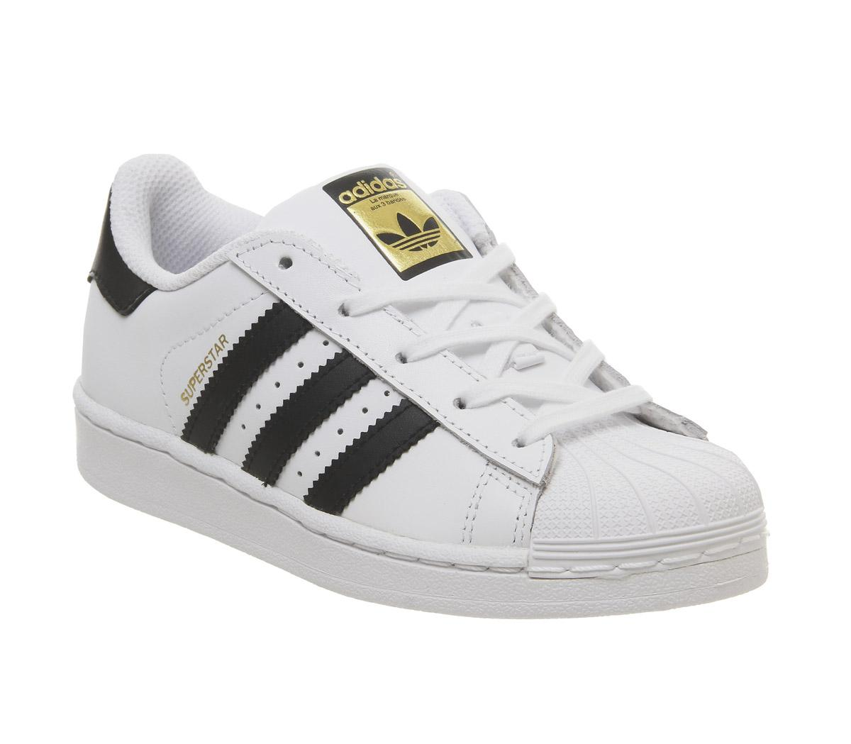 adidas Superstar Kids 10-2 Trainers White Core Black - Unisex