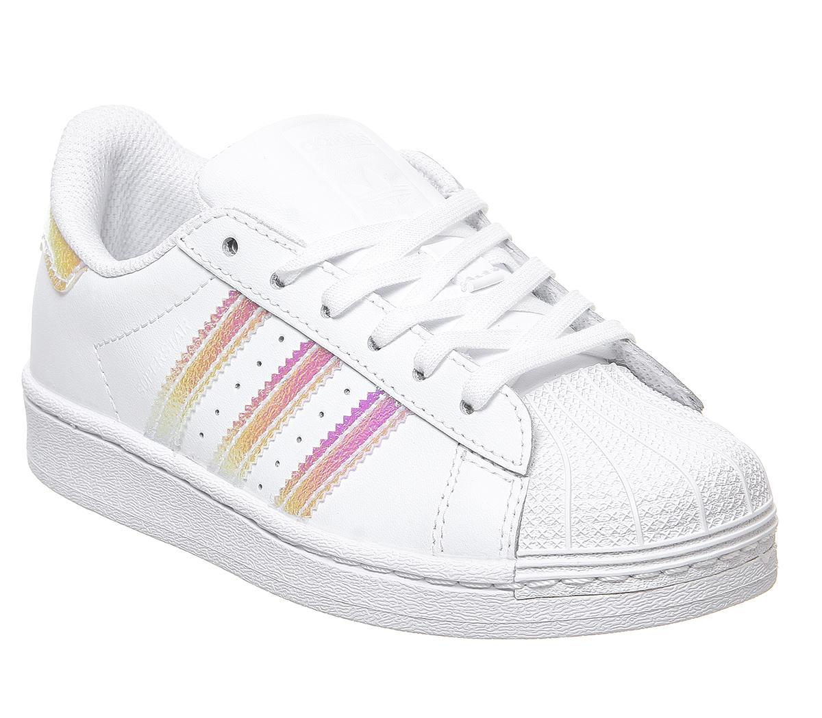 adidas Superstar Kids Trainers White Iridescent - Unisex