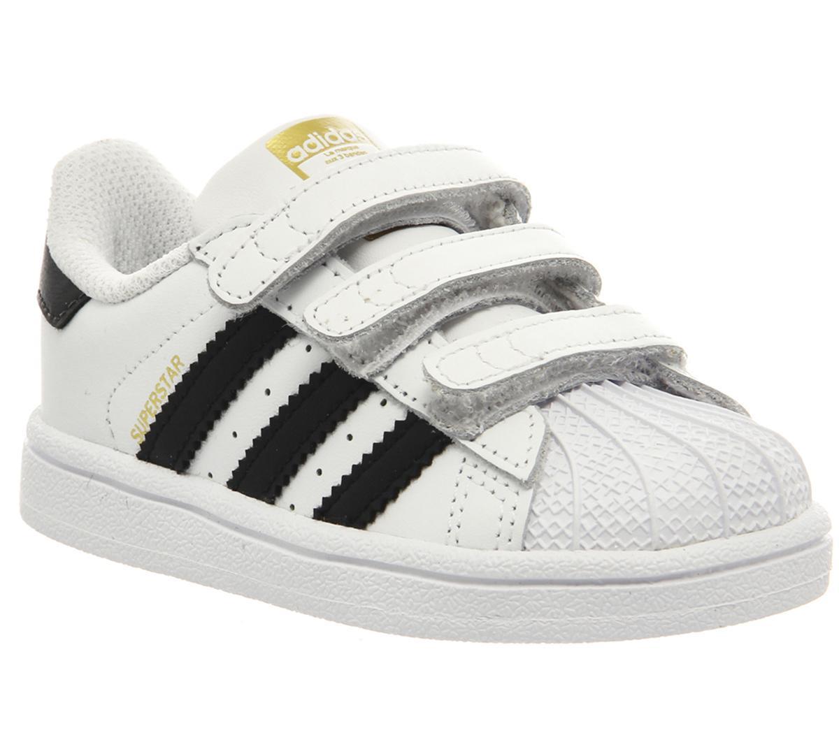 adidas Superstar Infant 2-9 White Black