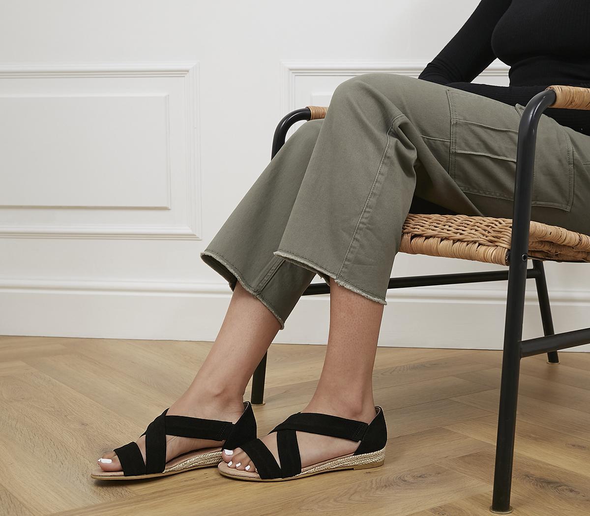 Hallie Cross Strap Espadrilles Sandals