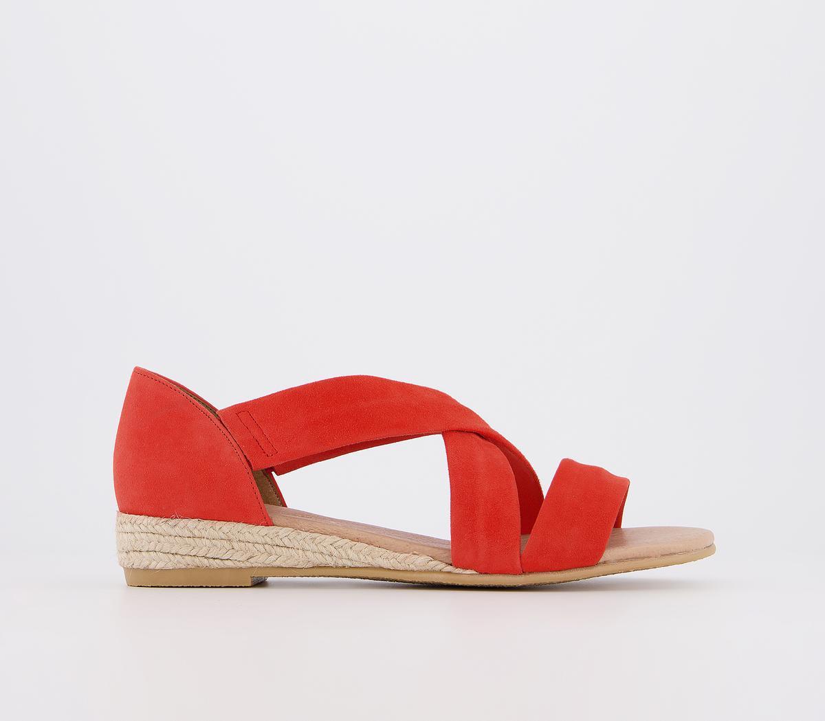 Hallie Cross Strap Espadrille Sandals