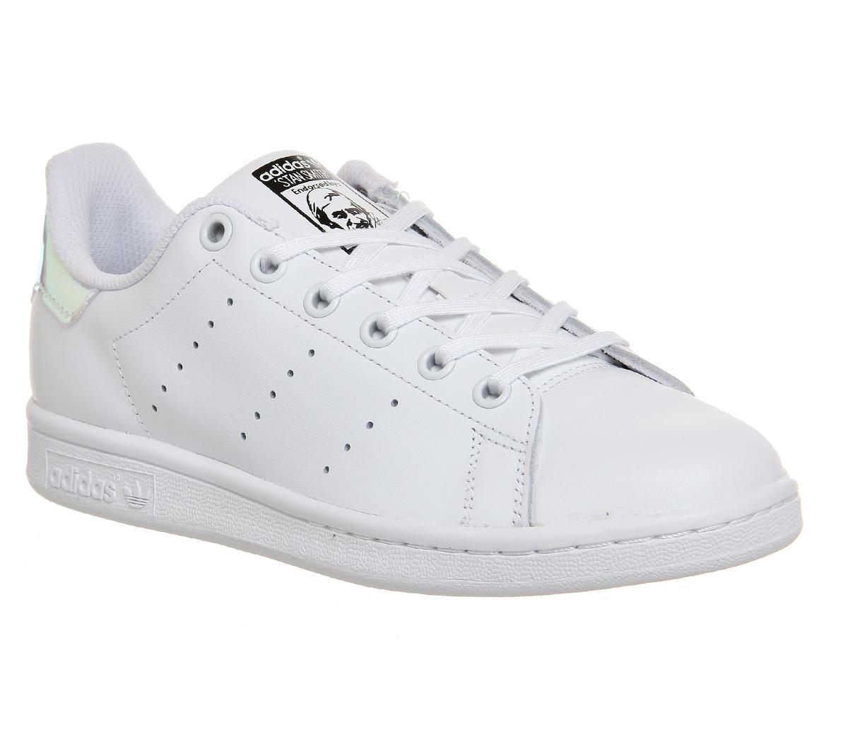 adidas superstar gs white metallic silver juniors