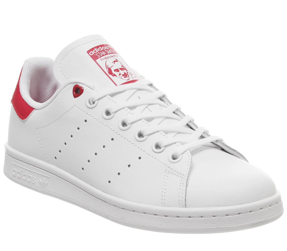 proteína inicial pensión  adidas Stan Smith Gs Trainers White White Red - Unisex
