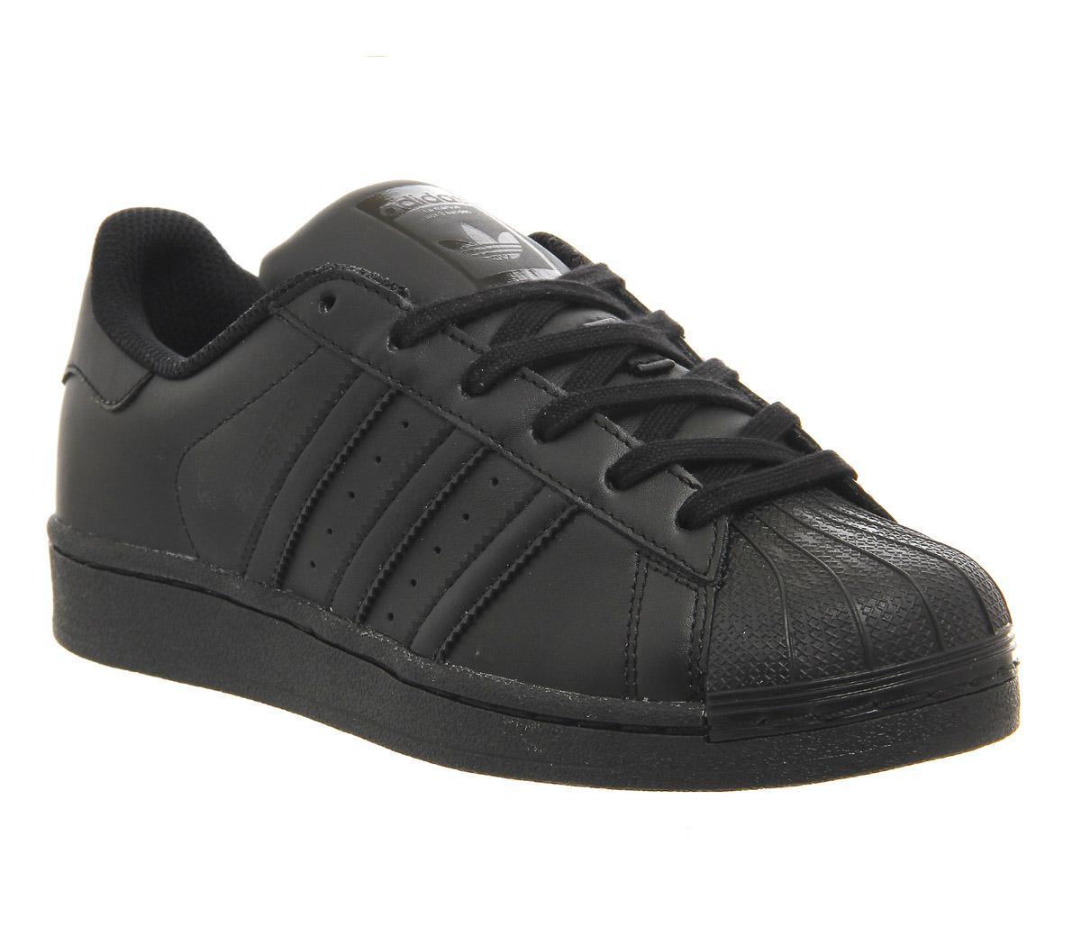black adidas trainers junior