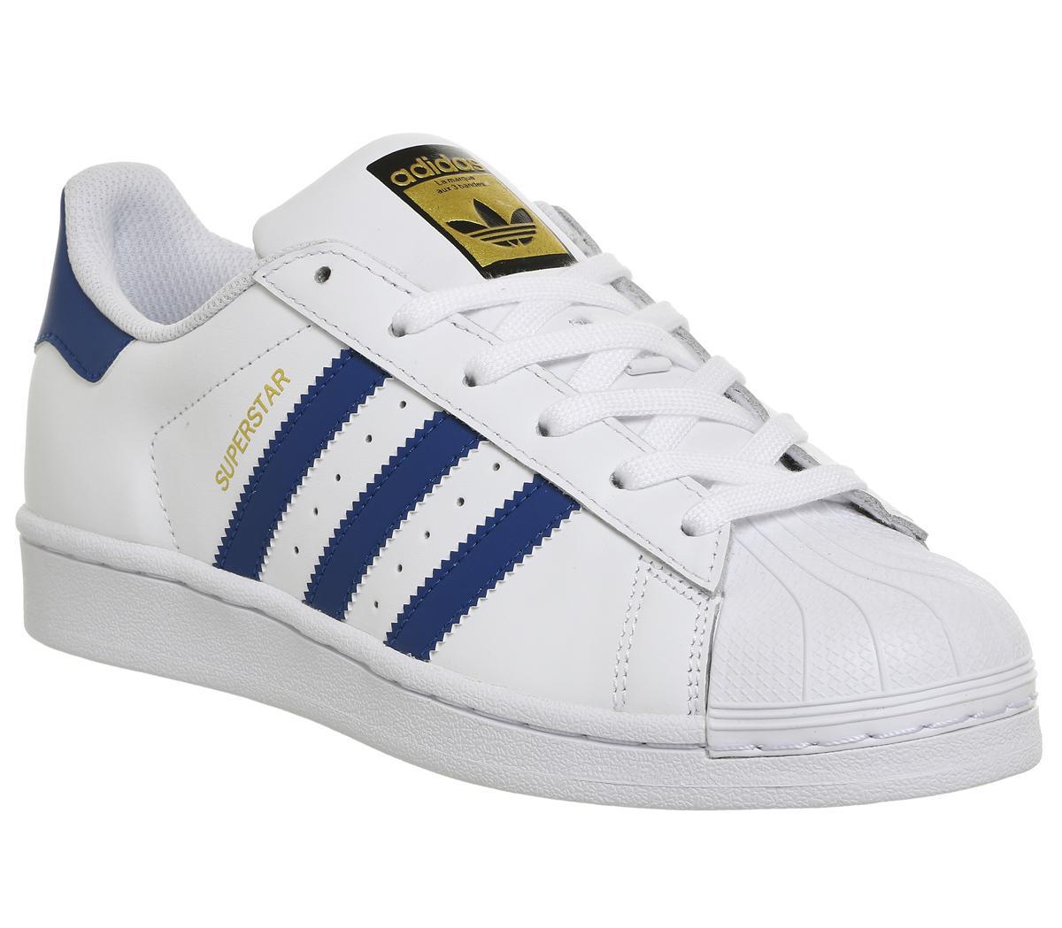 adidas superstar dark blue stripes