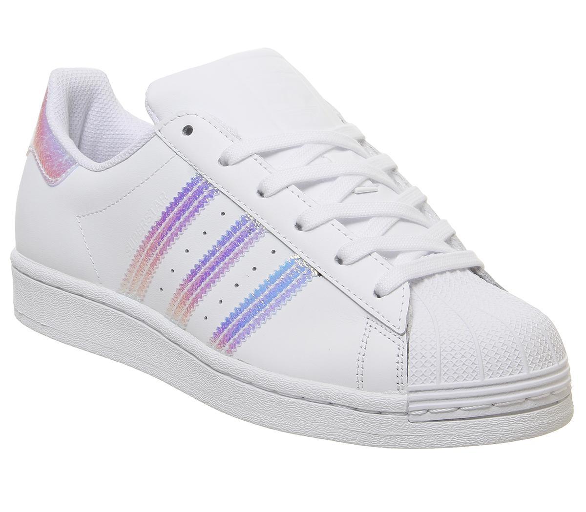 adidas Superstar Gs White Metallic