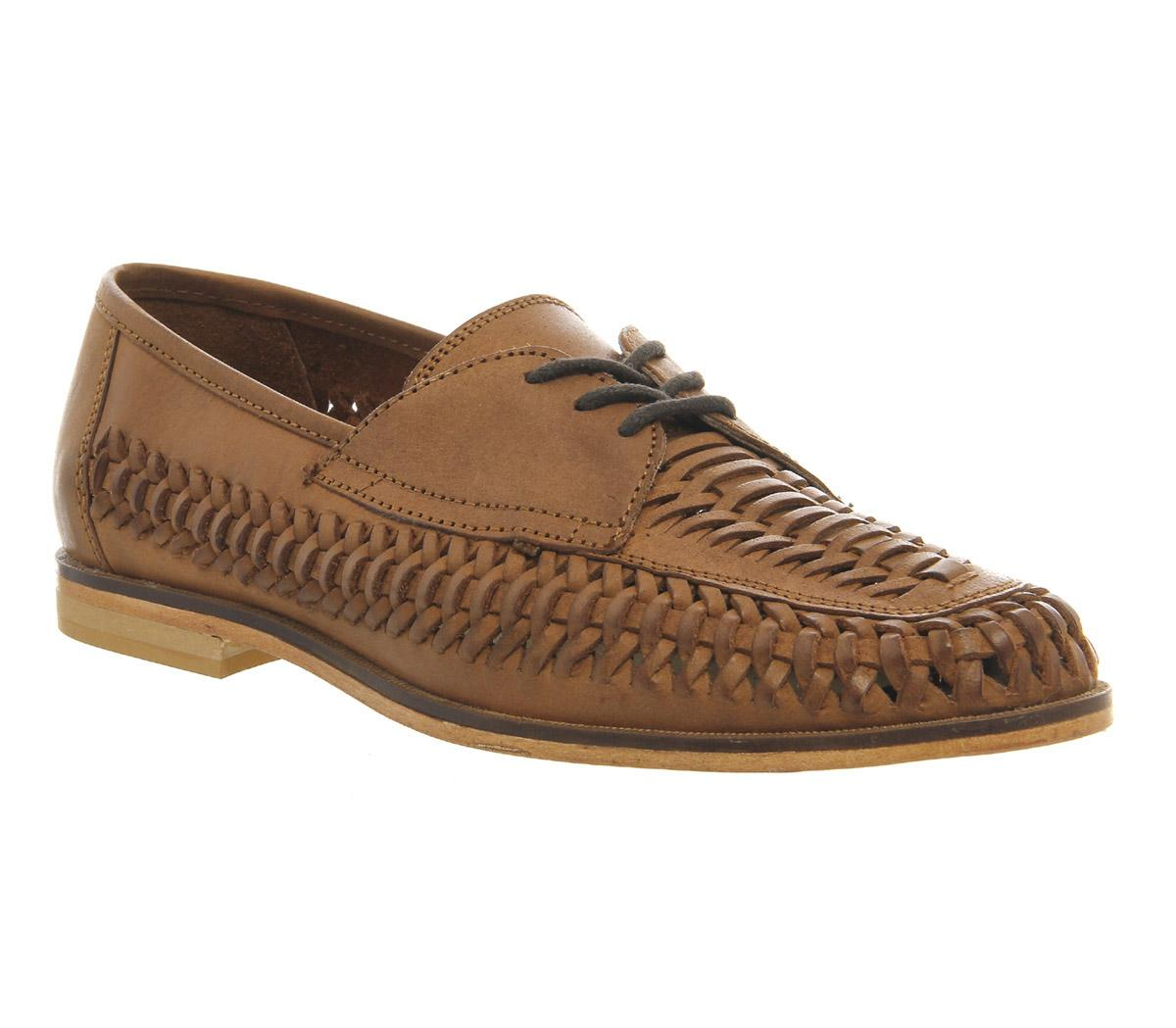 Brixton Weave Lace Loafers