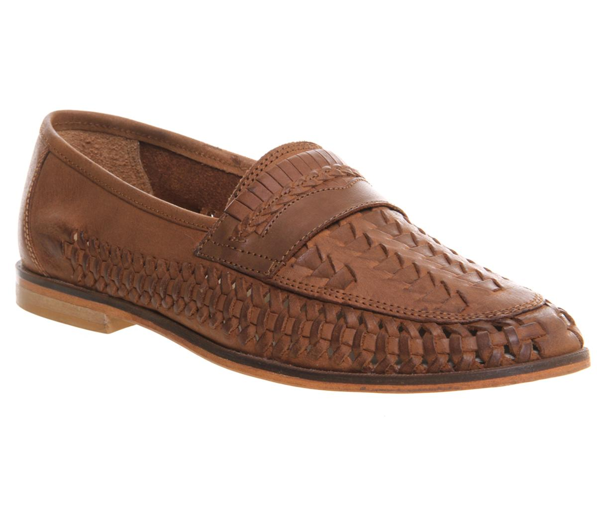 Bow Weave Slip On Loafers