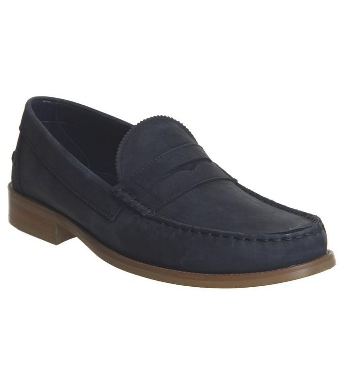 Ask the Missus Ask the Missus Bonjourno Penny Loafer NAVY NUBUCK
