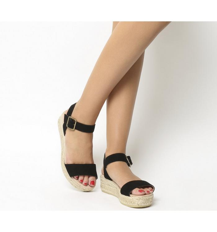 Gaimo for OFFICE Gaimo for OFFICE Jyle Flatform Sandal BLACK SUEDE