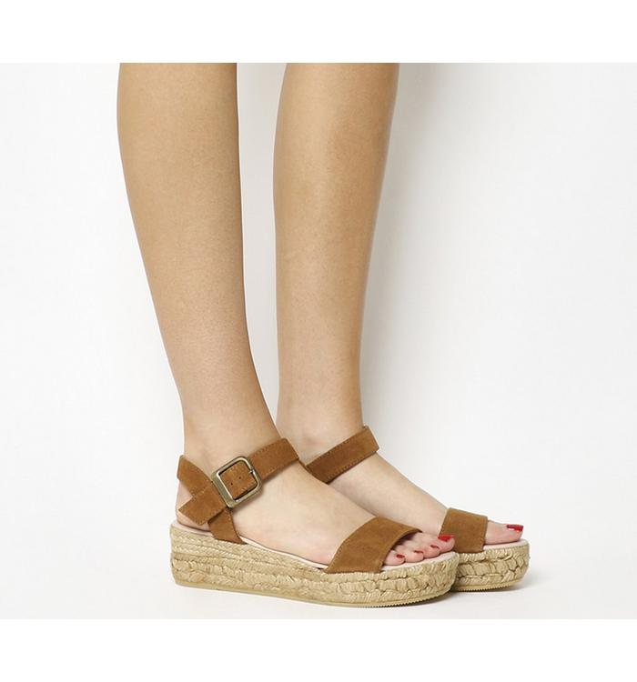 Gaimo for OFFICE Gaimo for OFFICE Jyle Flatform Sandal BROWN SUEDE