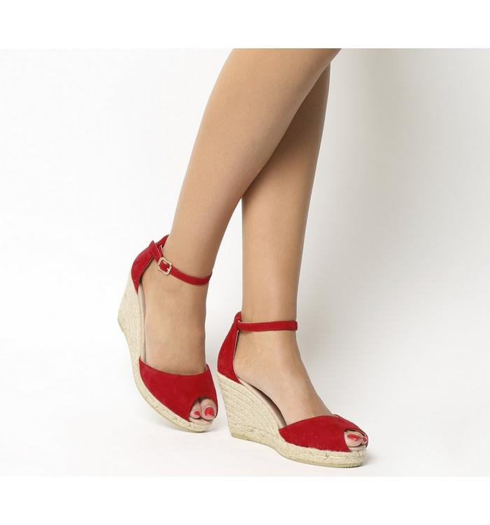 Gaimo for OFFICE Gaimo for OFFICE Susan Wedge Espadrille RED SUEDE