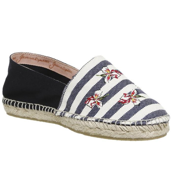 Gaimo for OFFICE Gaimo for OFFICE Alp Espadrille NAVY STRIPE CANVAS