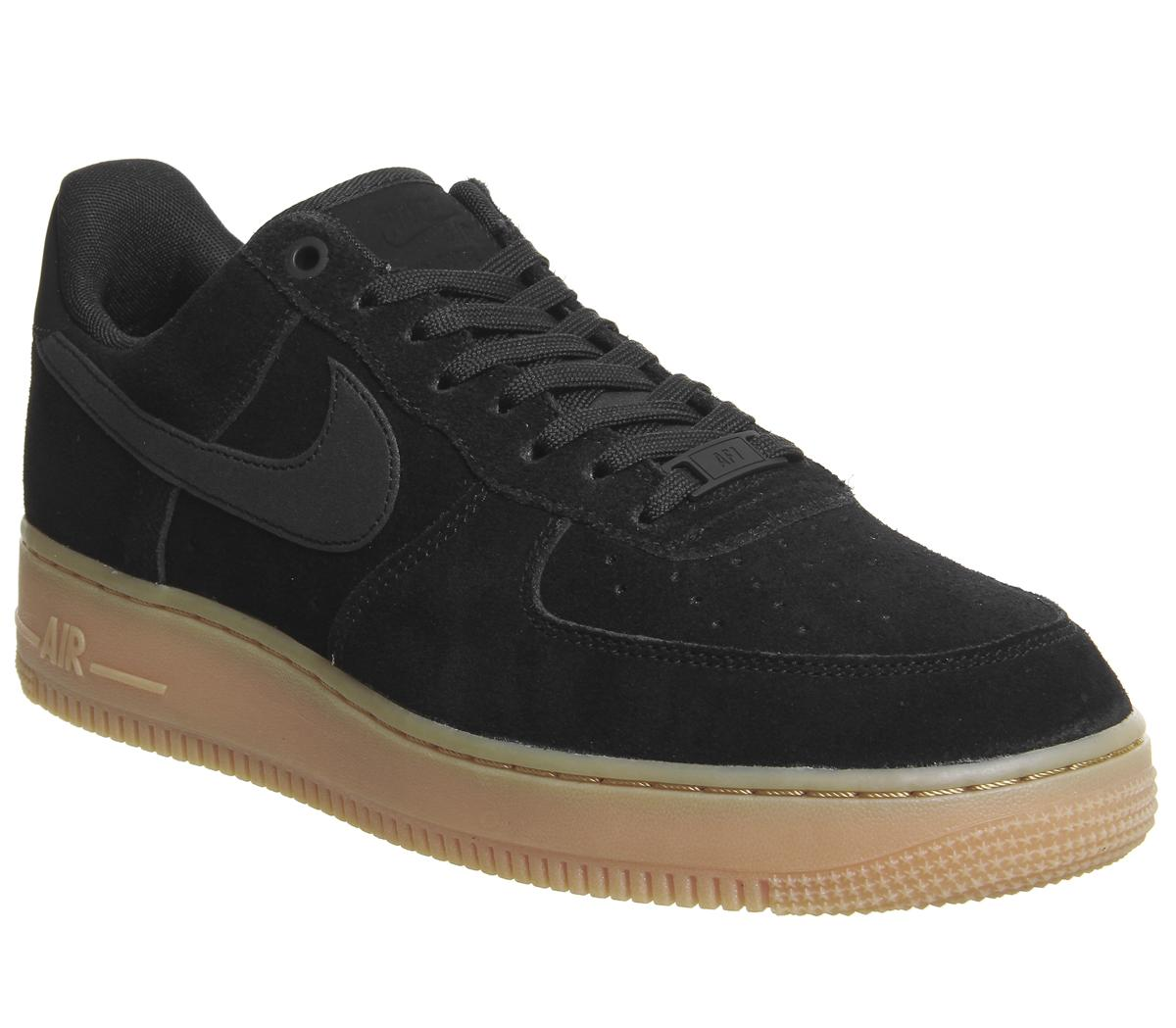 online store quality products really cheap Nike Nike Air Force One Trainers Black Gum - His trainers