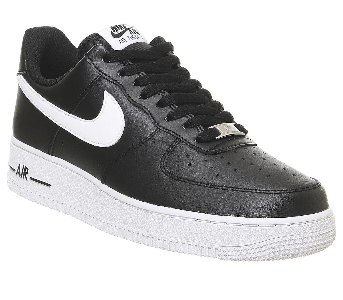 air force 1 black leather