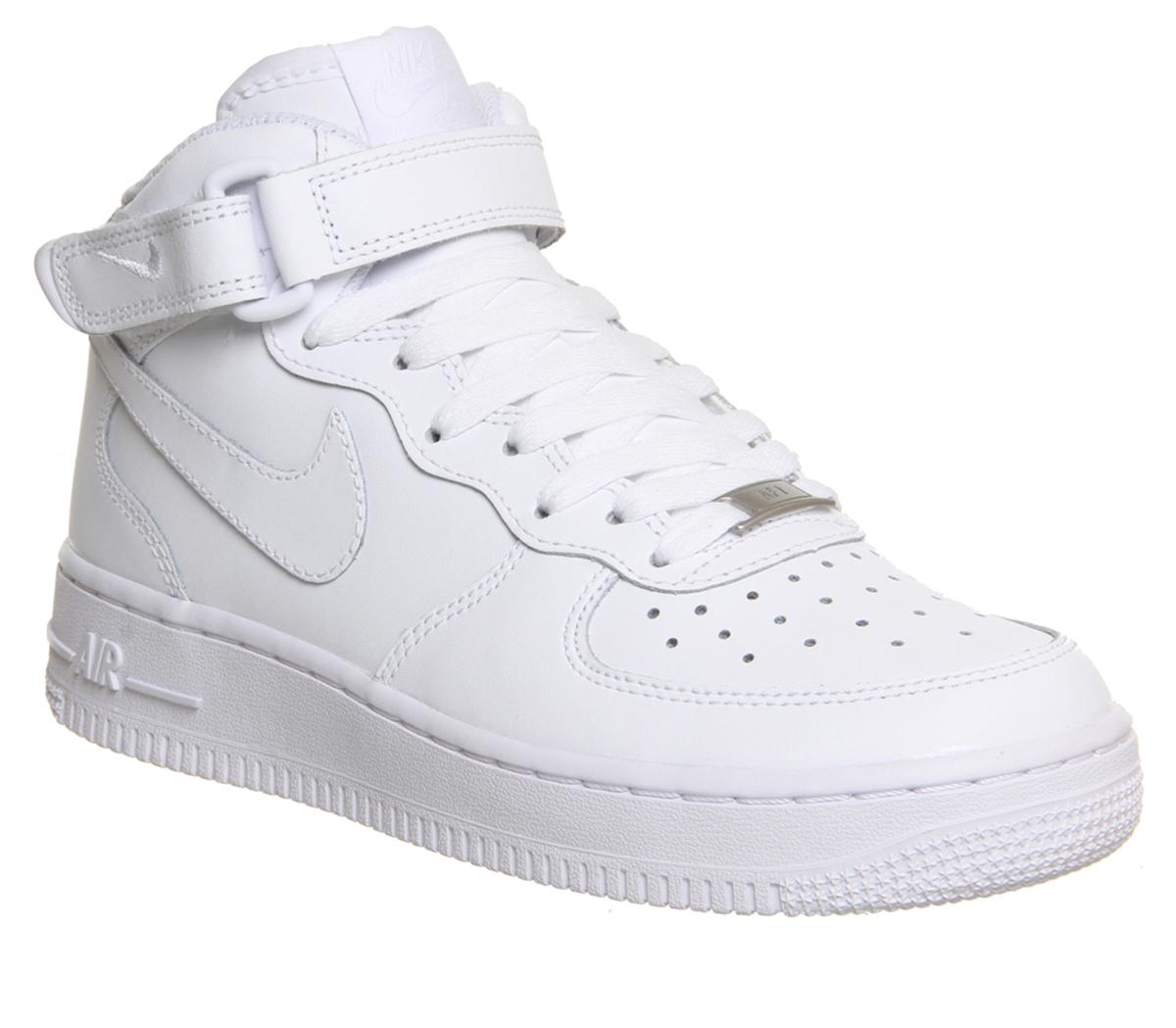 cosecha Asentar experiencia  Nike Air Force 1 Mid White - Office Girl