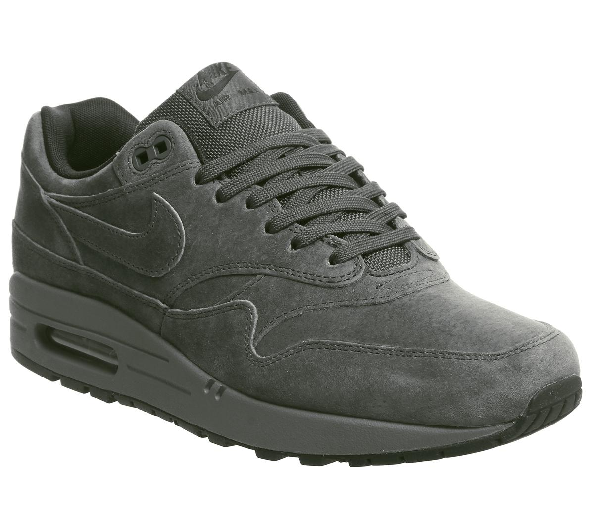 nike air max 1 black grey white