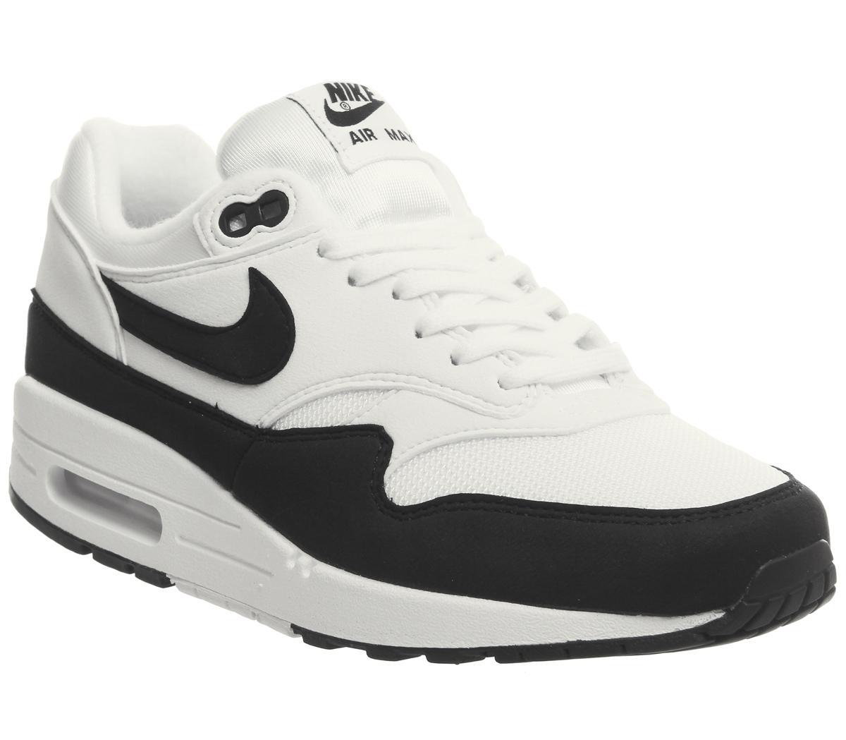 Nike Air Max 1 Trainers White Black F