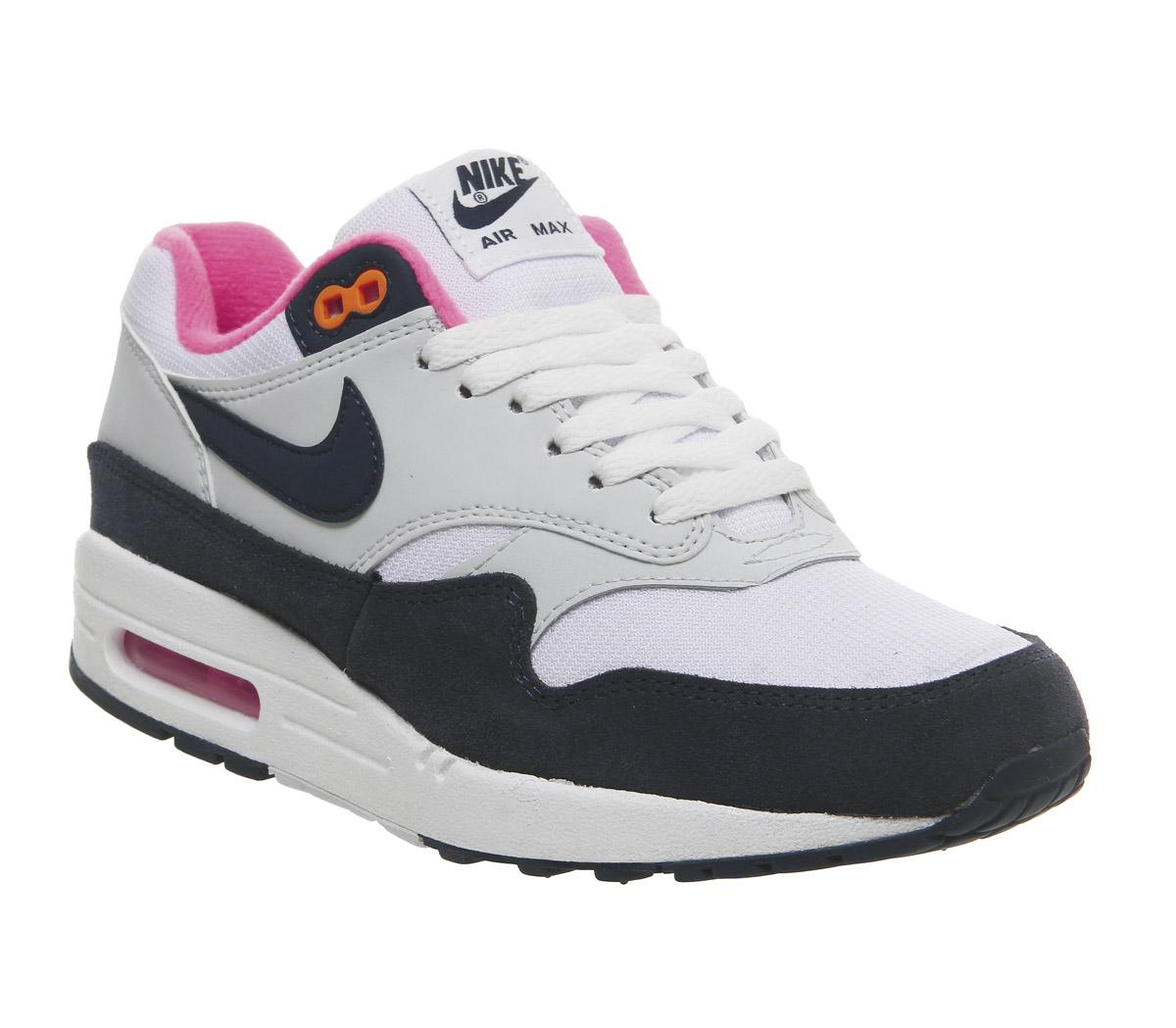 Nike Air Max 1 Trainers In Navy