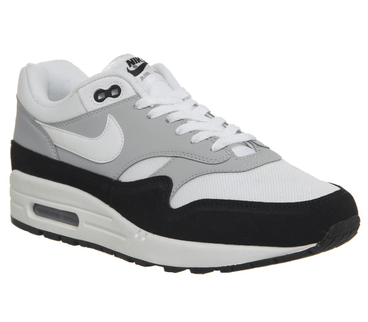 Nike Air Max 1 Trainers Wolf Grey White