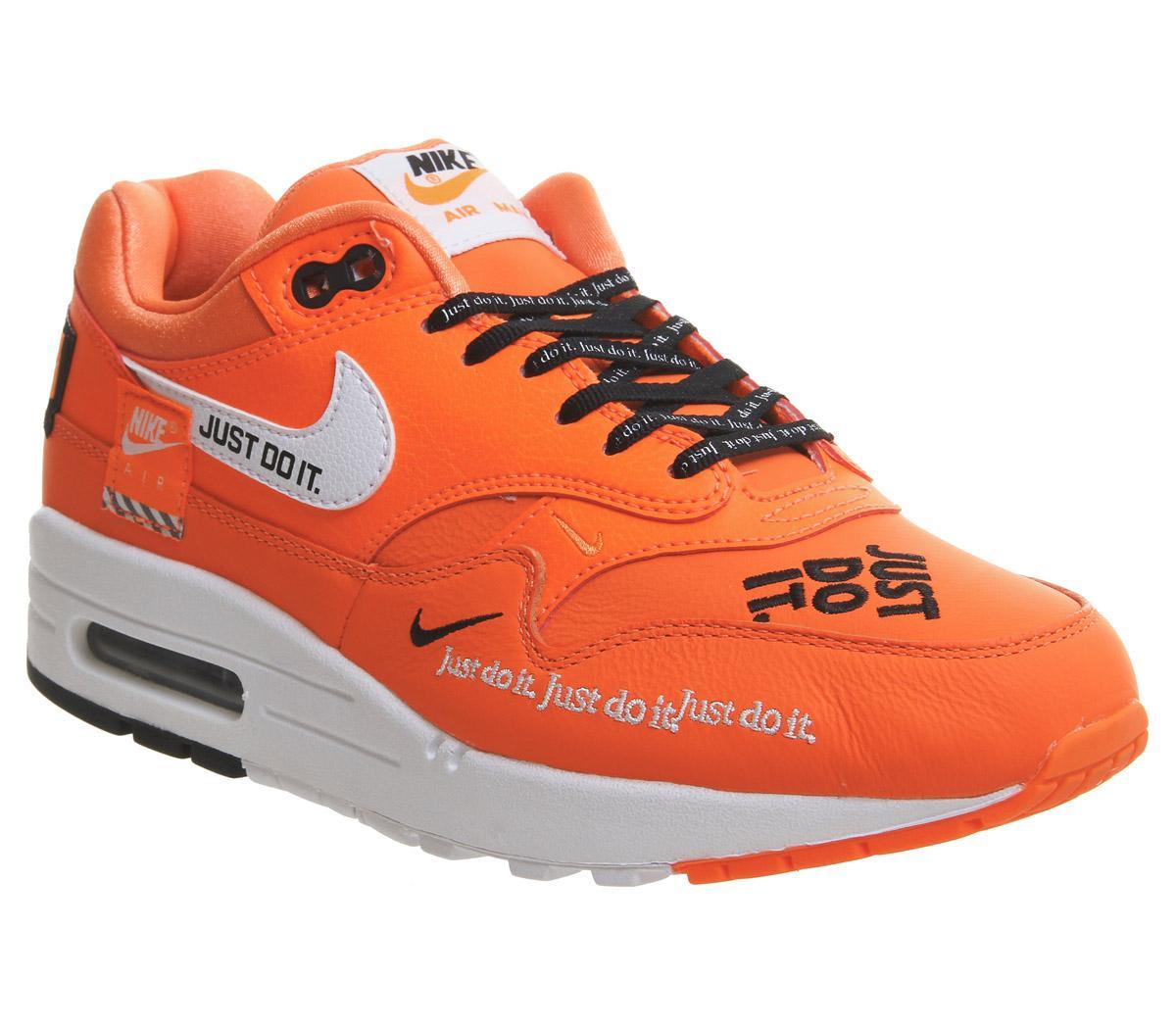 Nike Air Max 1 Total Orange White Jdi F