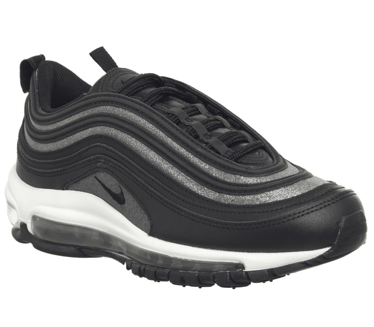 Cuyo seguro Al frente  Nike Air Max 97 Trainers Black Black Dark Grey Glitter F - Hers trainers