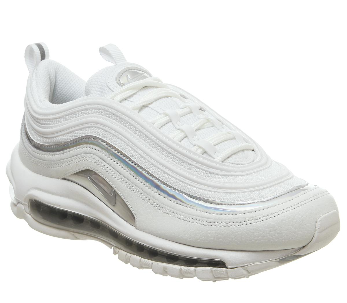 escándalo Kent estimular  Nike Air Max 97 Trainers Summit White Metallic Silver - Hers trainers