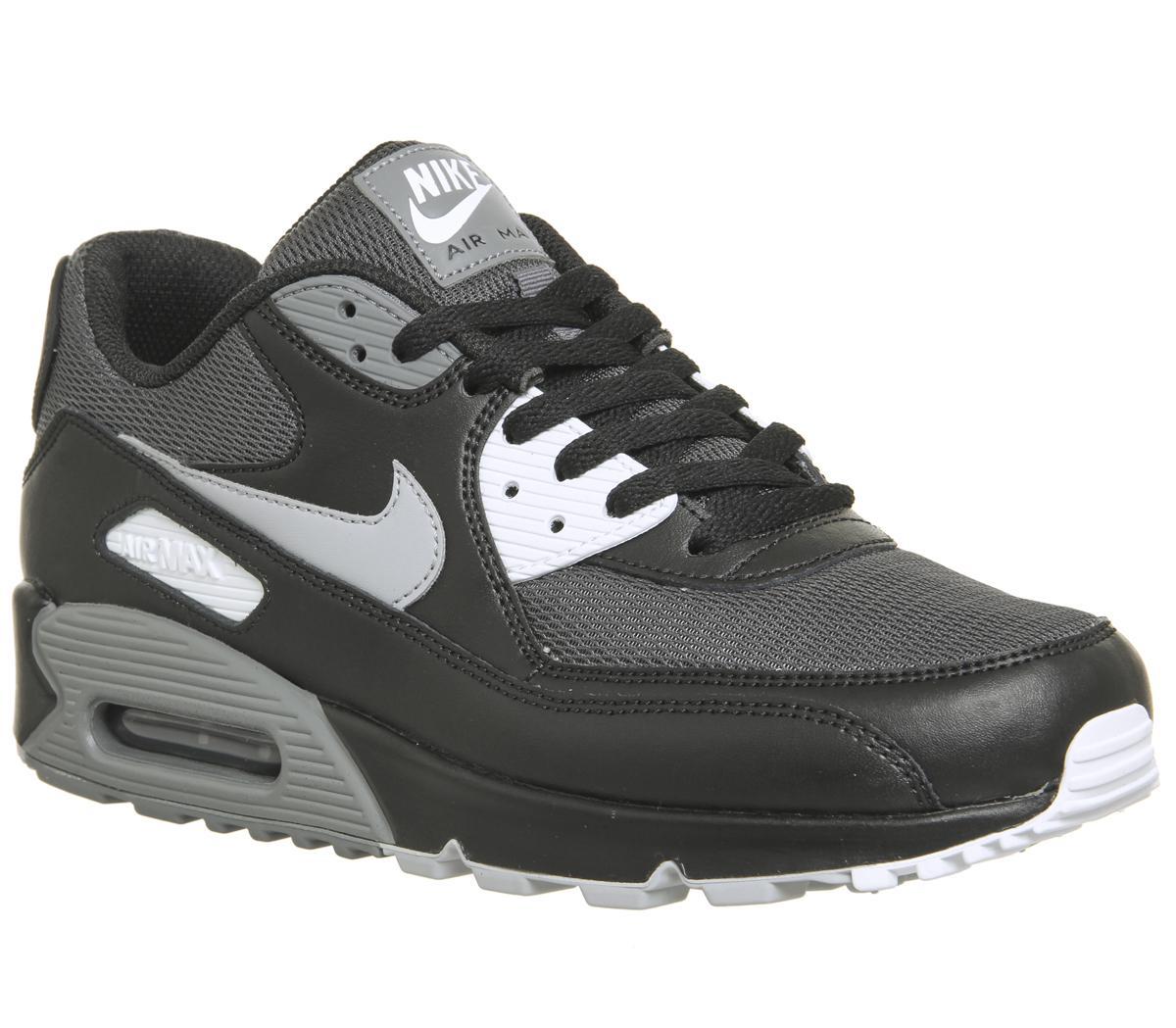 Nike Air Max 90 Trainers Black Wolf