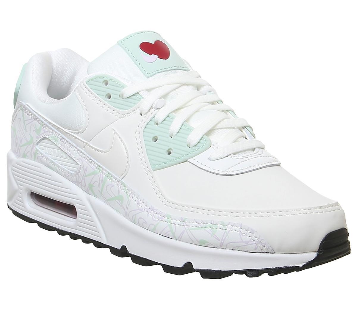 Llamarada Conciliador Alegaciones  Nike Air Max 90 Trainers Summit White Pistachio Frost Iced Lilac - Unisex  Sports