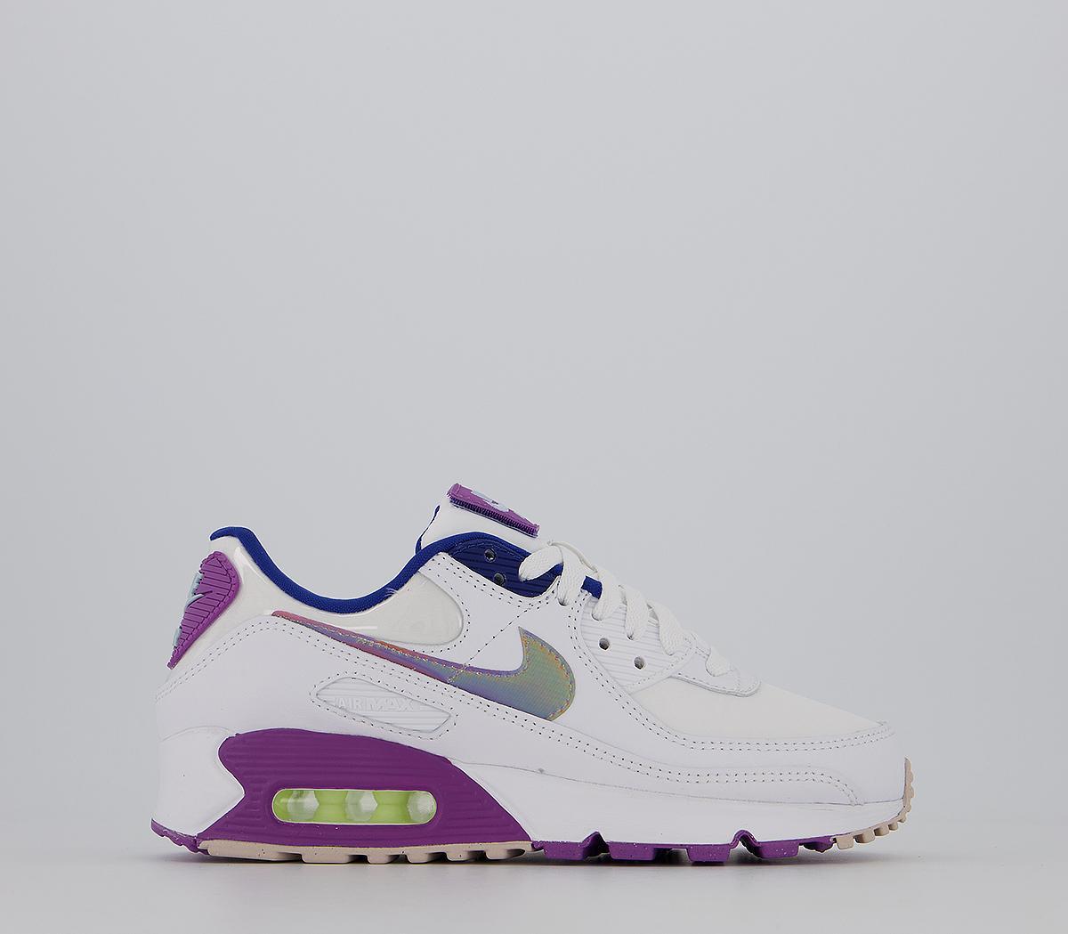 Nike Air Max 90 White Purple Barely