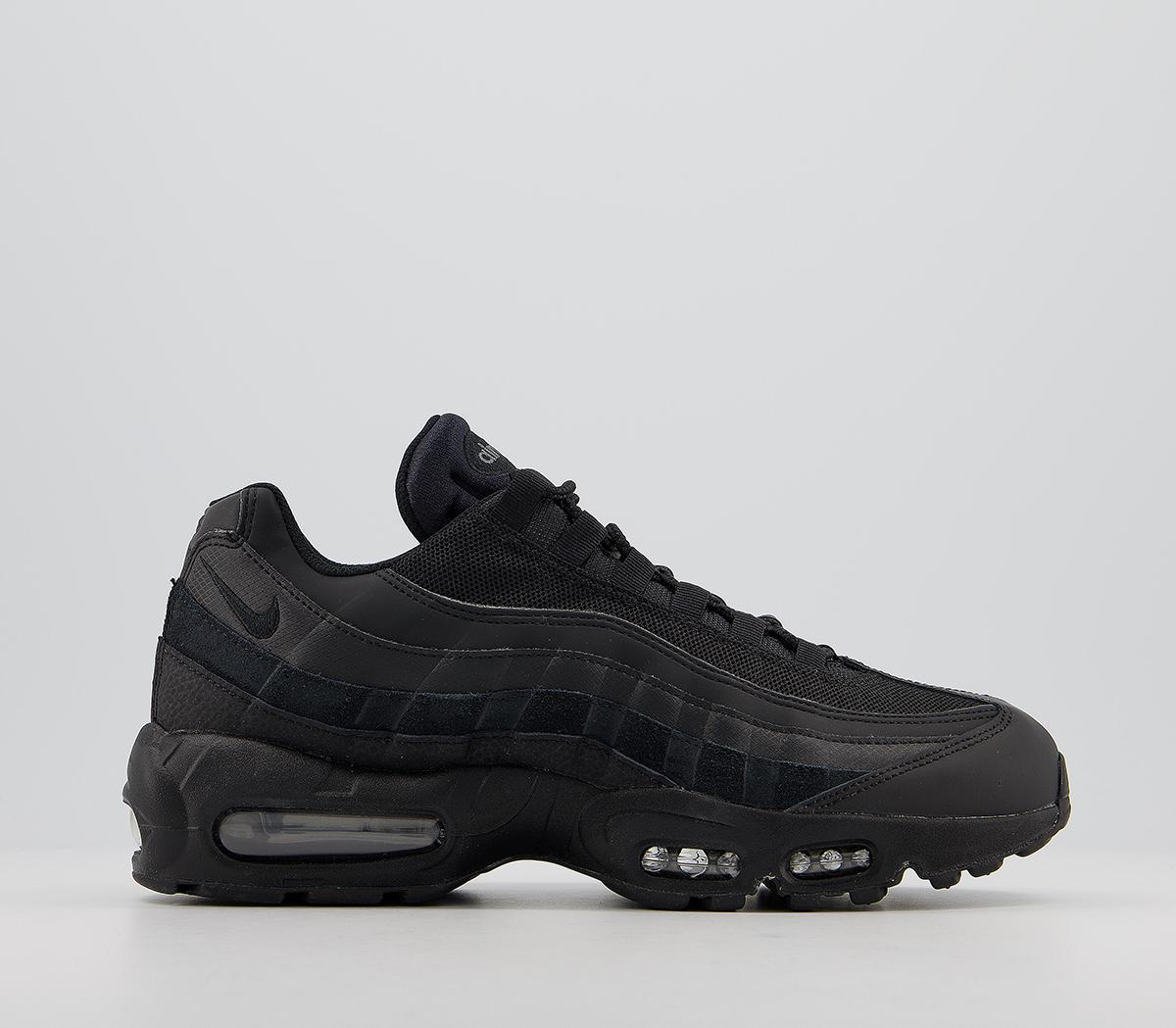 Bungalow desempleo Dedicar  Nike Air Max 95 Trainers Black Black Anthracite - His trainers
