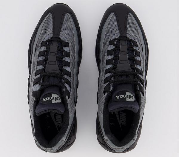 Nike Air Max 95 Trainers Black White Smoke Grey - His trainers 3mMPho9