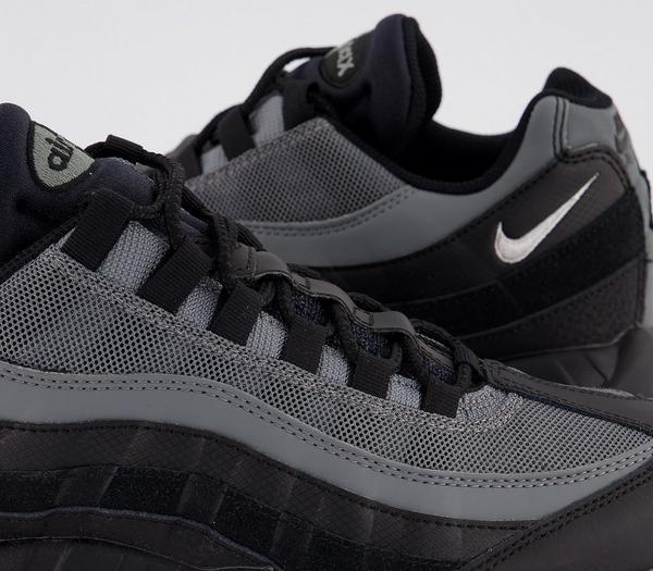 Nike Air Max 95 Trainers Black White Smoke Grey - His trainers Z43c9gb