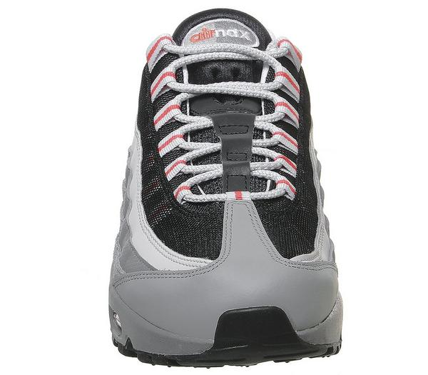 Nike Air Max 95 Trainers Track Red White Grey Black Grey Fog Track Red - His trainers 5MlqbZ3