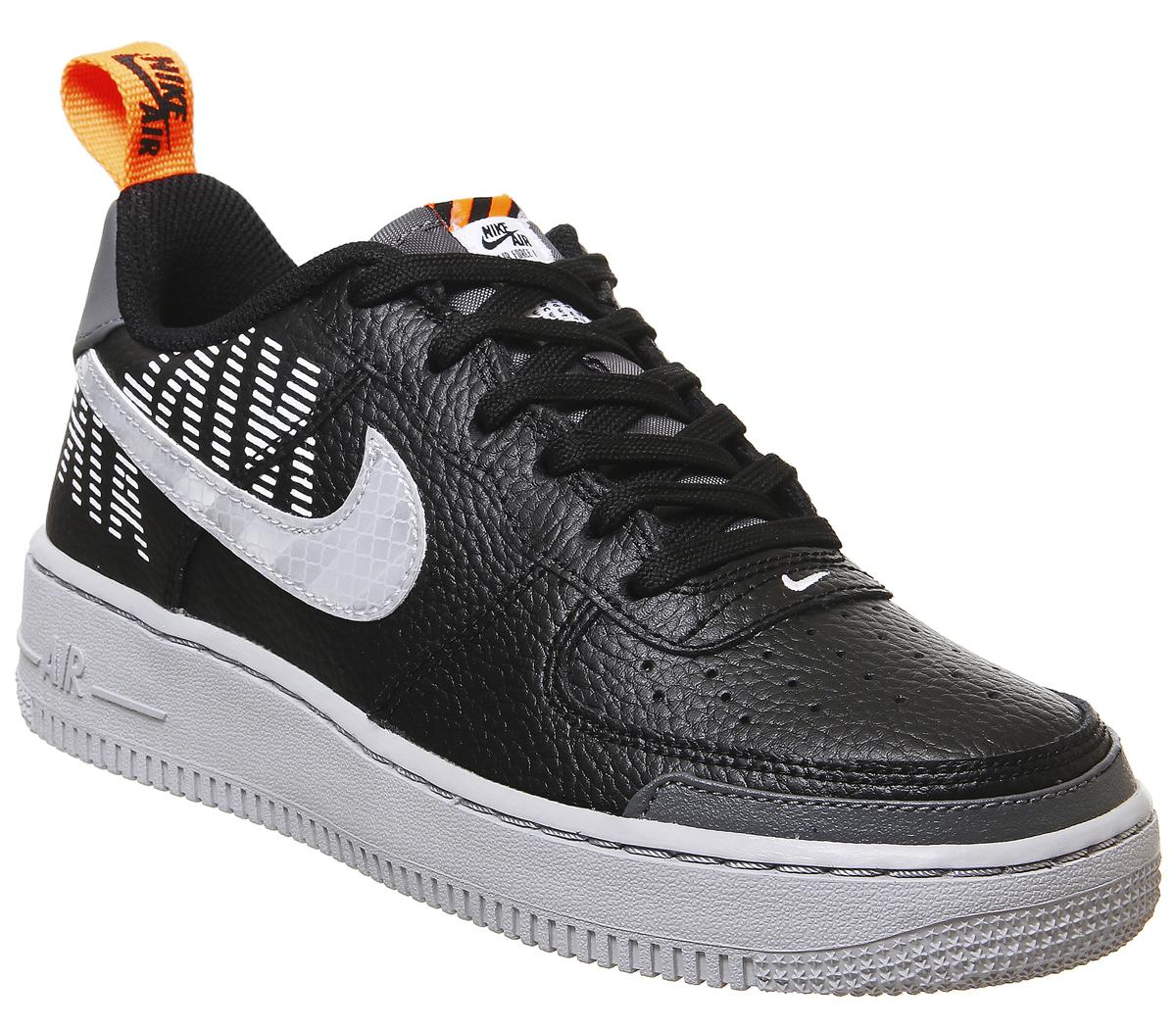Nike Air Force 1 Trainers Black Wolf