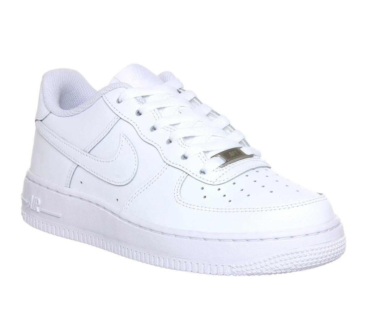 Kids Unisex white & gold nike air force 1 ep trainers | schuh