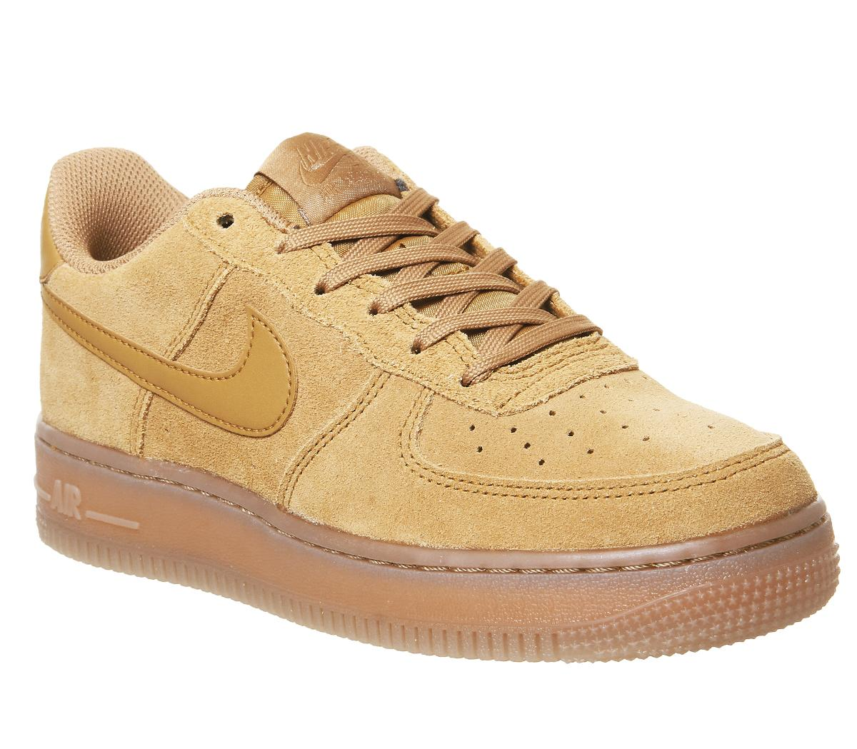 Nike Air Force 1 Trainers Wheat Wheat