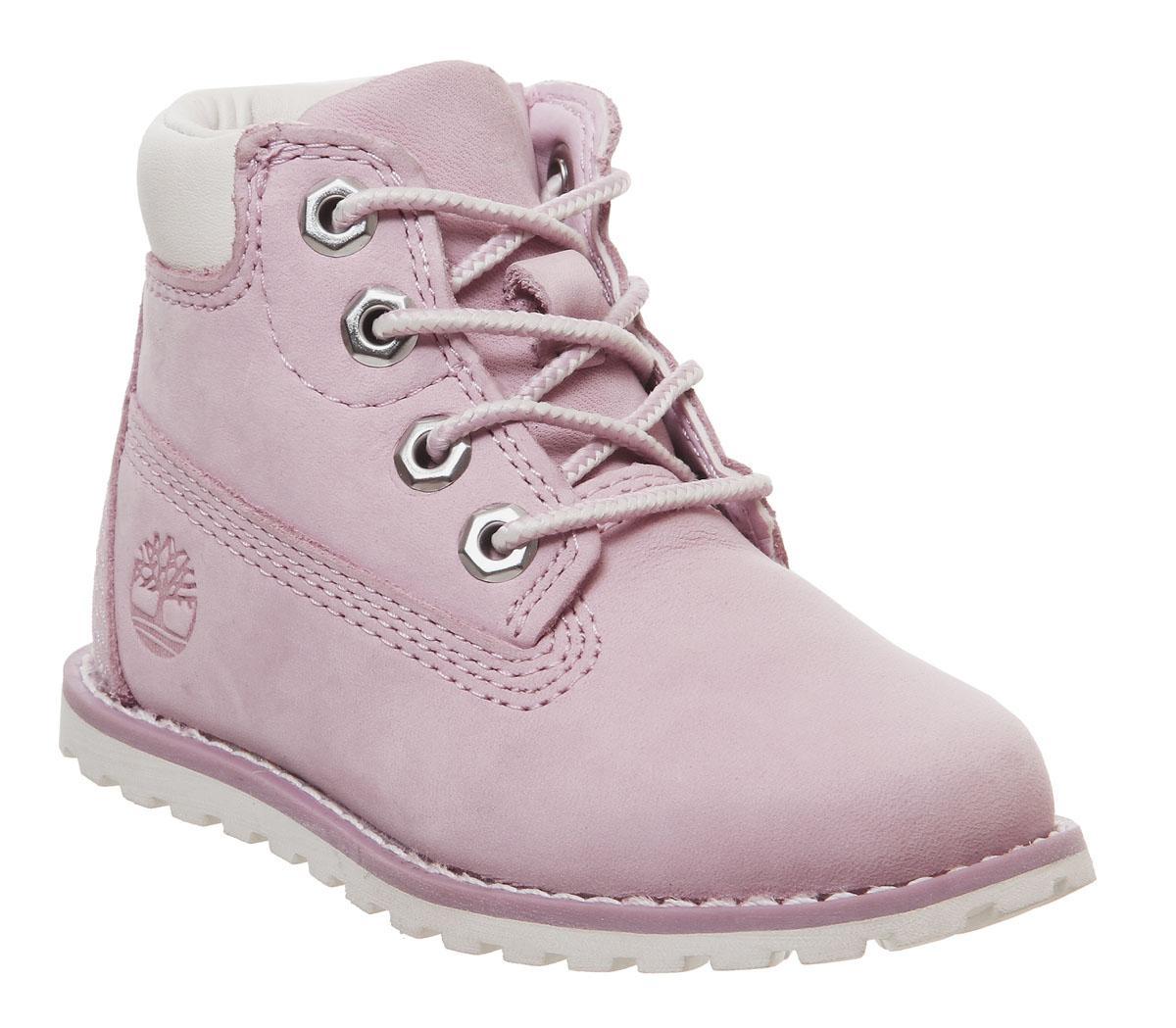 Nursery Timberland Pokey Pine 6 Inch Pink Zip Boots RRP £54.99