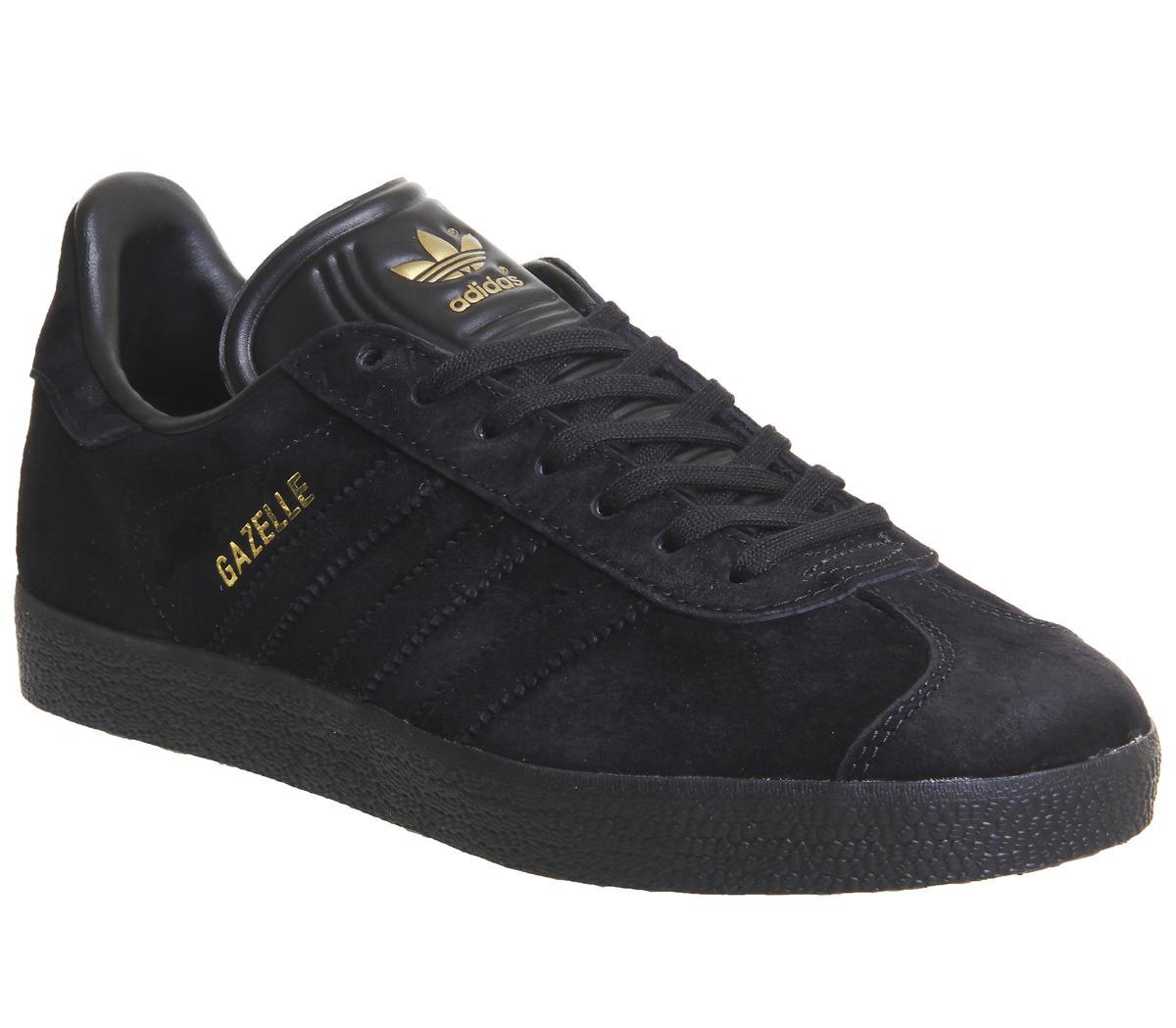 marca famosa ahorros fantásticos gama muy codiciada de adidas Gazelle Trainers Black Gold Exclusive - His trainers