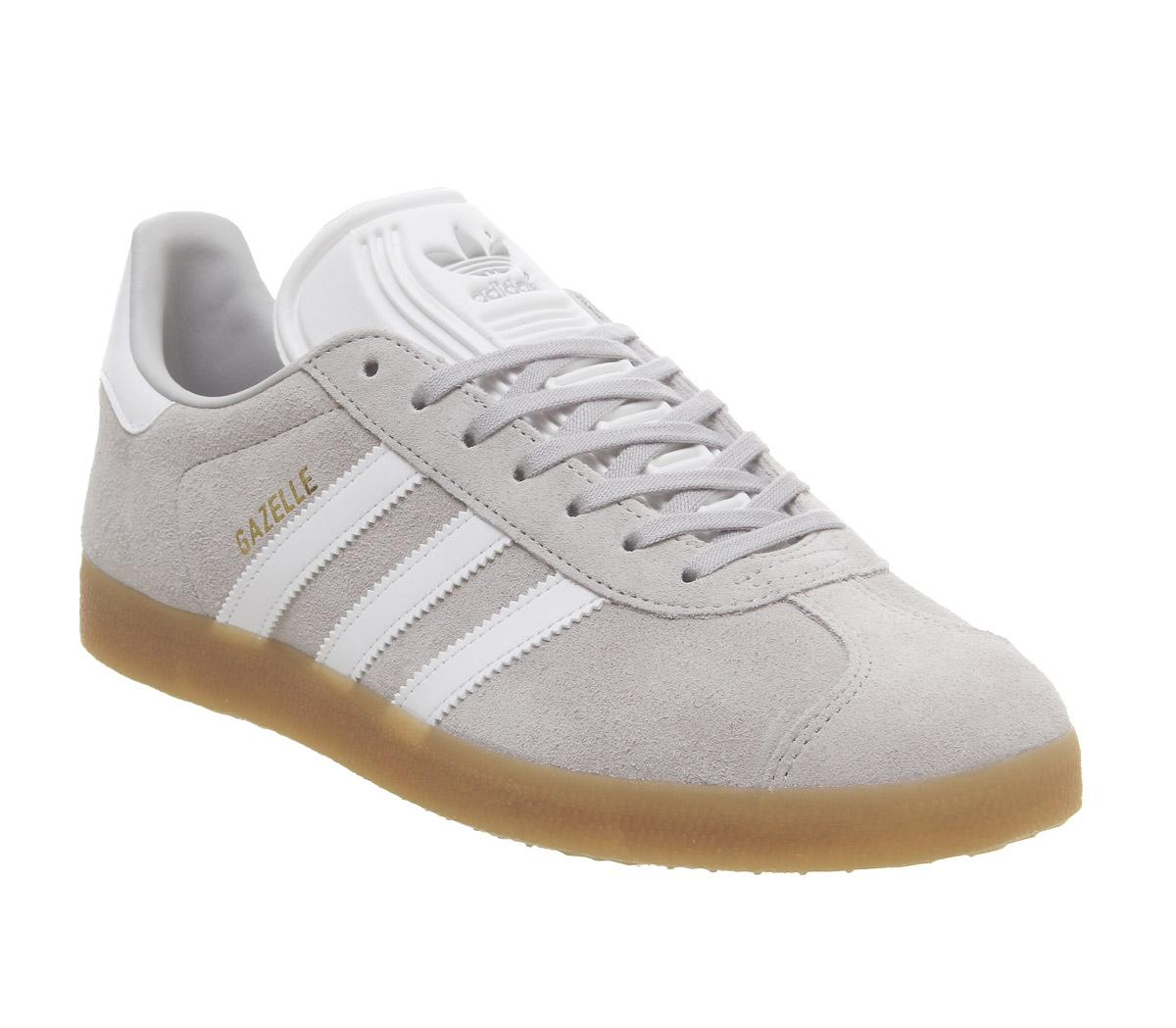 Circular pastel Banquete  adidas Gazelle Trainers Grey Two White Gum - His trainers