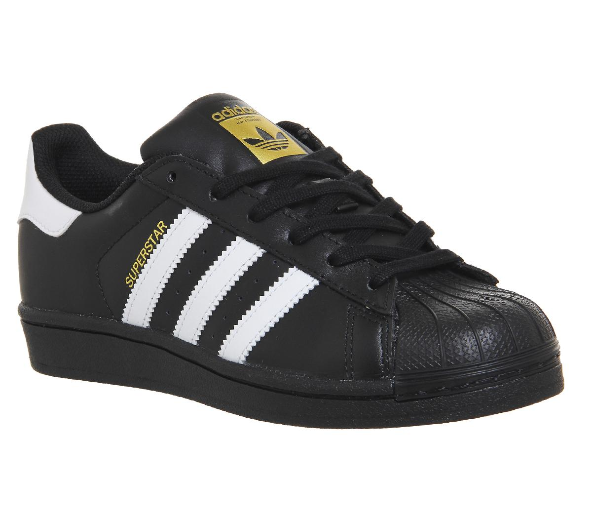 adidas superstar shoes white and black