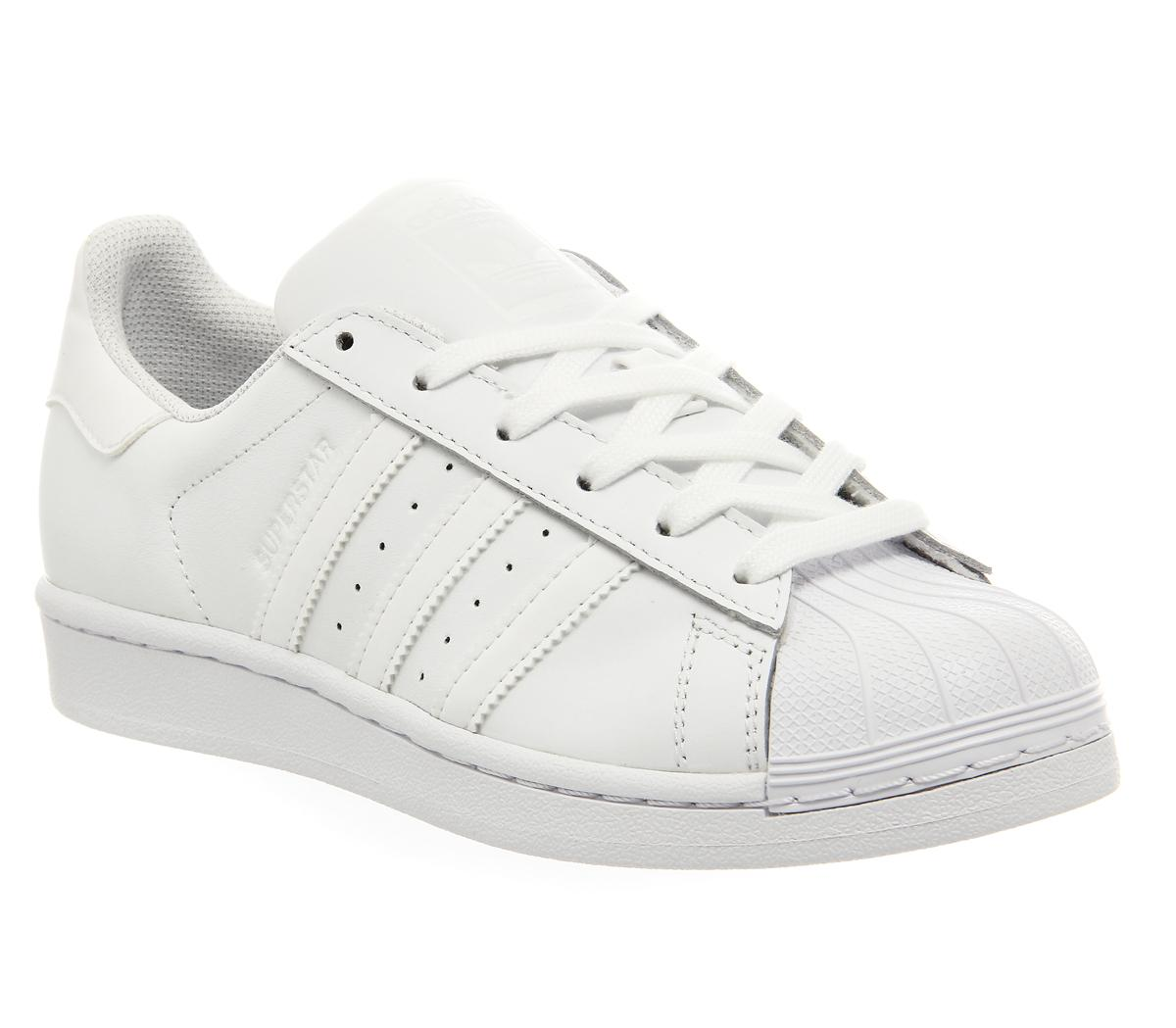 Adidas Superstar adidas Superstar 1 White Mono Foundation - Unisex Sports
