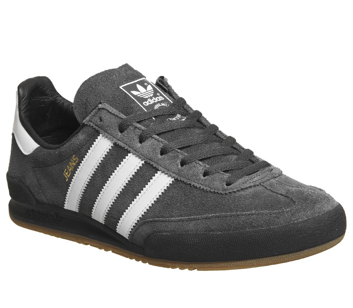 adidas jeans trainers black leather