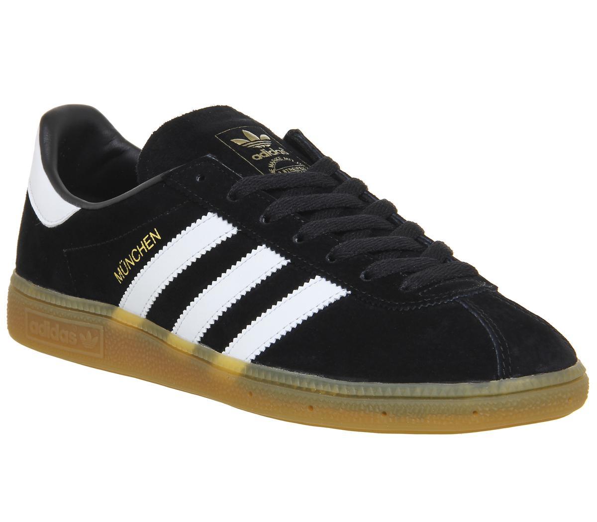 radio Duquesa Abolladura  adidas Munchen Black White - His trainers