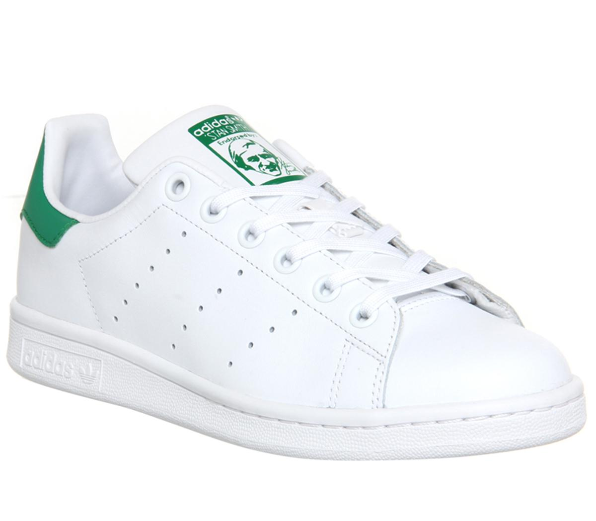 blanco como la nieve Planta de semillero Injusticia  adidas Stan Smith Trainers Core White Green - Unisex Sports