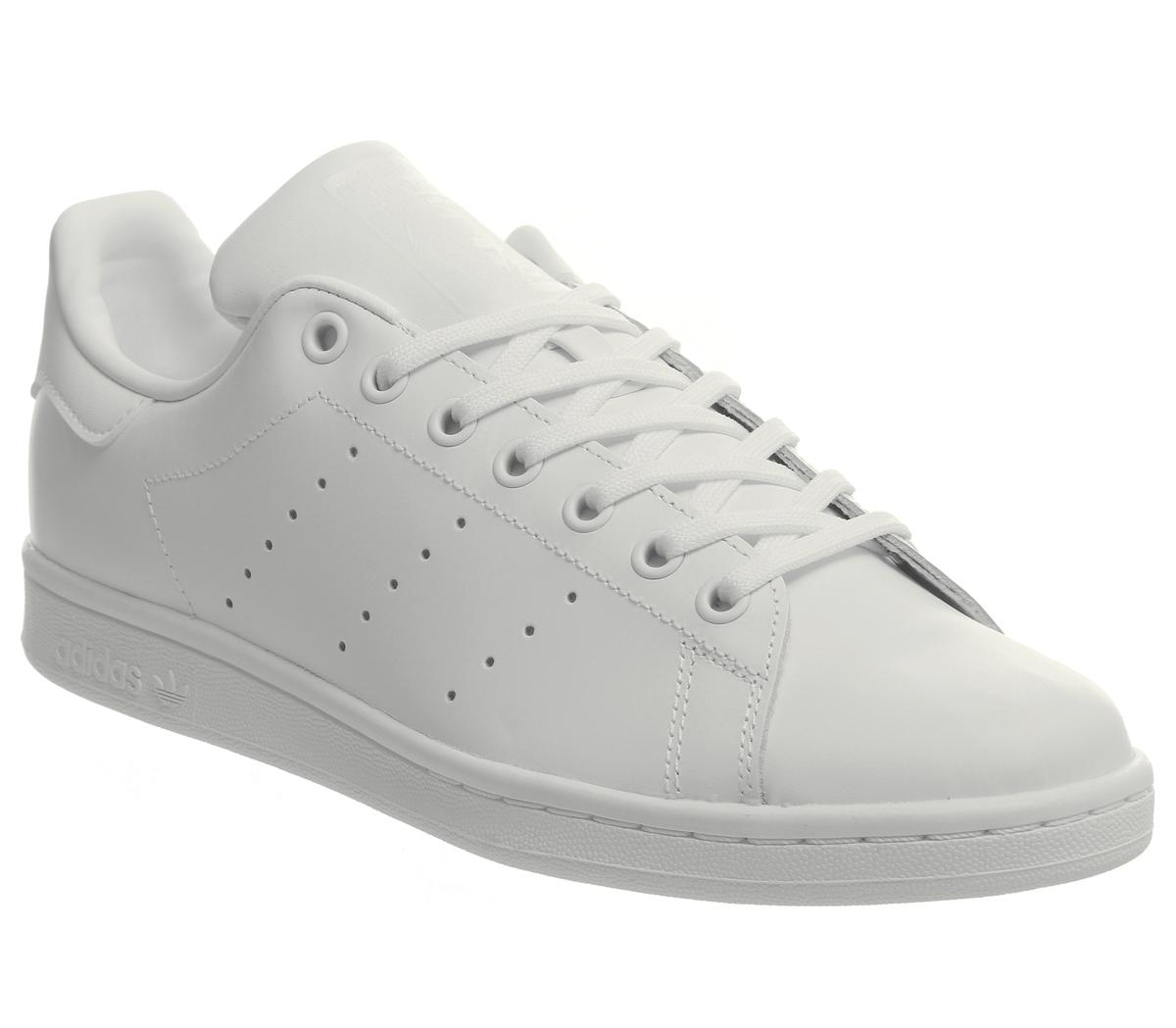 adidas originals stan smith white and black trainers