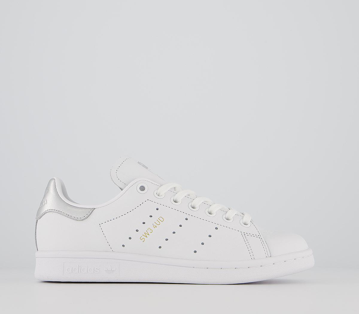 adidas Stan Smith Trainers White Silver