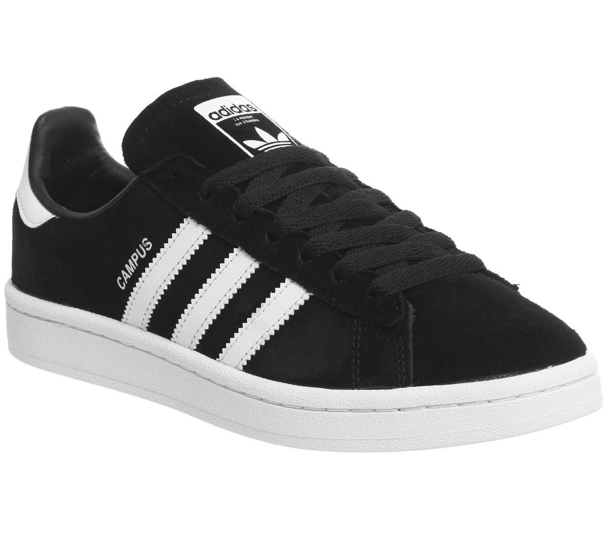 Dedicar ingresos conductor  adidas Campus Black White - Unisex Sports